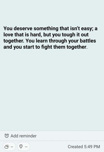 Love isn't easy but you get through it together