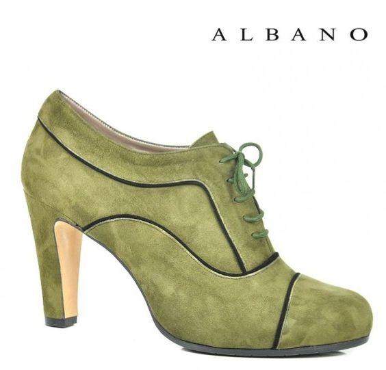 Francesine verdi con tacco
