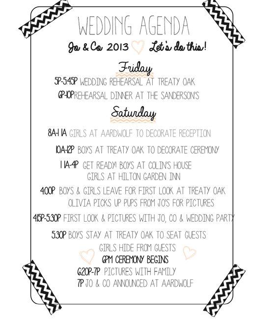 planning for the wedding wedding reception timeline wedding – Wedding Agenda