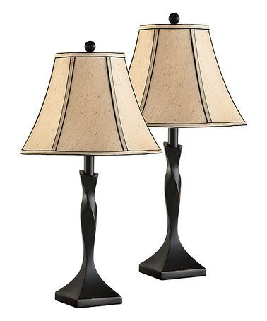 Another Great Find On Zulily Brushed Black Light Brown Table Lamp Set Of Two Zulilyfinds Light Brown Table Brown Table Lamps Traditional Table Lamps