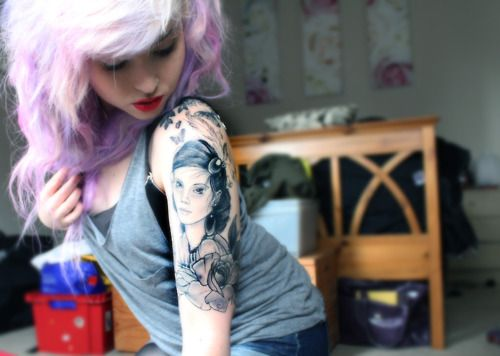 pretty tattoo on a pretty adorable lady