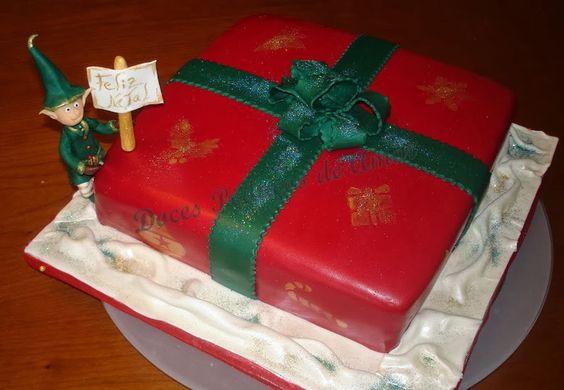 Doces Pedaços de Amor: Bolo Feliz Natal