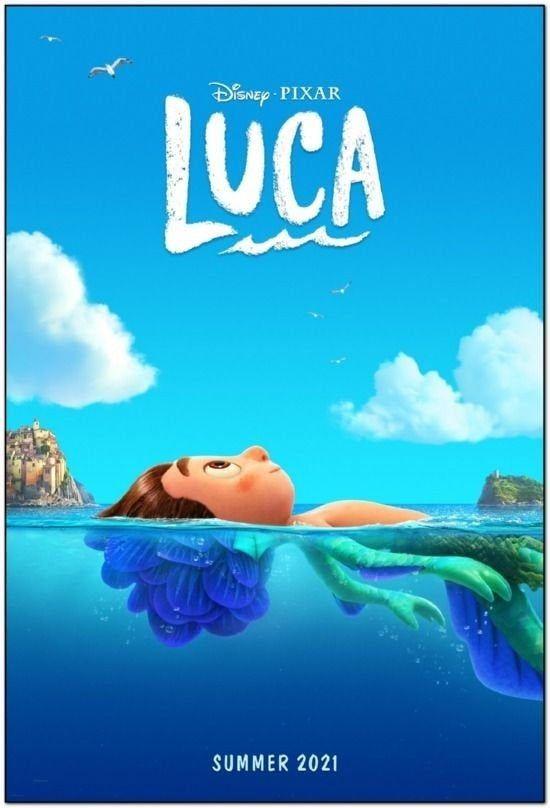 Luca 2021 Original 27 X 40 Movie Poster Disney Pixar Etsy Em 2021 Novos Filmes Da Disney Disney Pixar Disney Films
