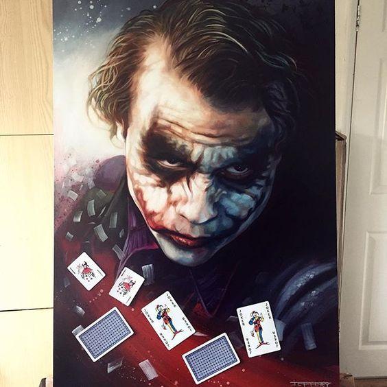 "NEW - 'Joker of the Pack III' Original oil on board 20""x30""  #joker #batmanarkhamknight #darkknight #proartist #instaartist #painting #comicart #studio #art #illustration #drawing #draw #picture #artist #sketch #sketchbook #paper #pen #pencil #artsy  #beautiful #instagood #gallery #creative #photooftheday #graphic #graphics #artoftheday"