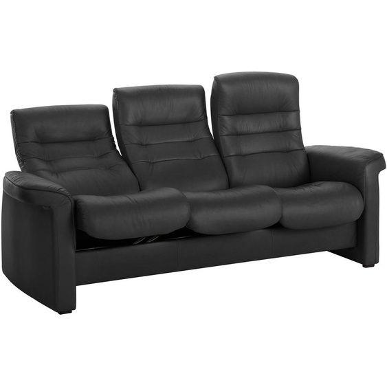 Stressless 3 Sitzer Sofa Sapphire Schwarz Echtleder In 2020 Stressless Sofa Sofa Leder Kinosessel