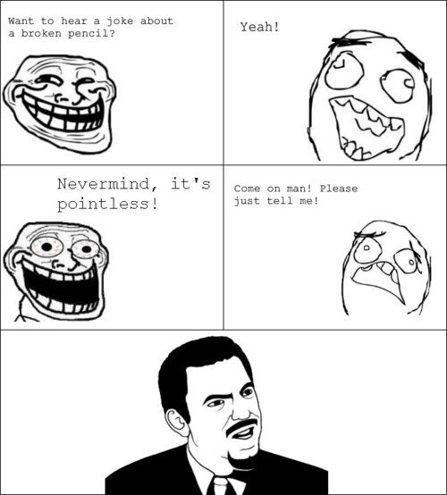troll face meme pointless joke- Lol Image