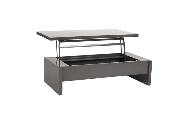 Aurora Coffee Table In Gray Lacquer High Gloss Lacquer Top Lifts