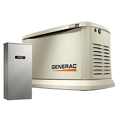Generac 70432 Home Standby Generator Guardian Series 22kw 19 5kw Air Cooled With Wi Fi And Transfer Switch Aluminum Green Lawn Garden Store Standby Generators Transfer Switch Whole House Generators