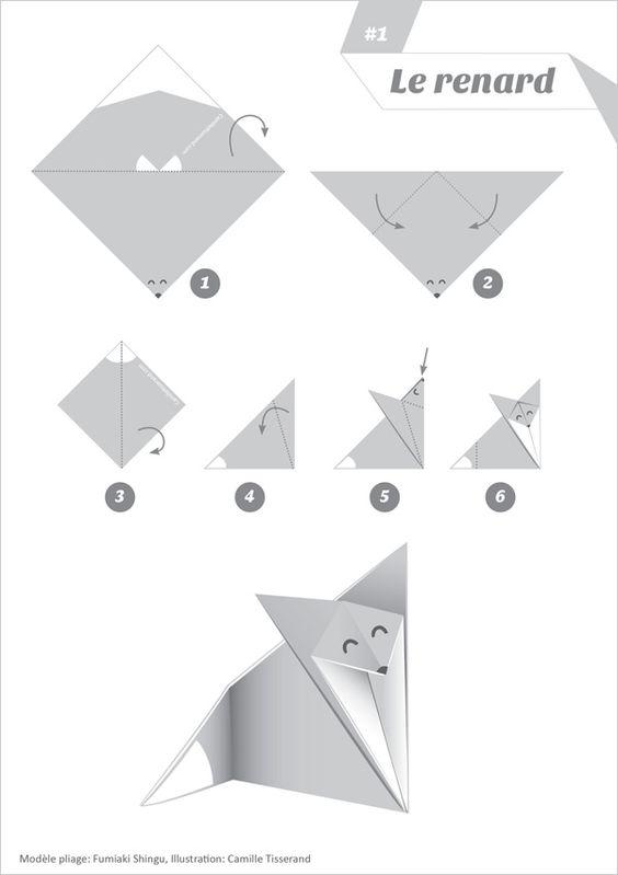 la maison du renard origami renard papier pinterest. Black Bedroom Furniture Sets. Home Design Ideas