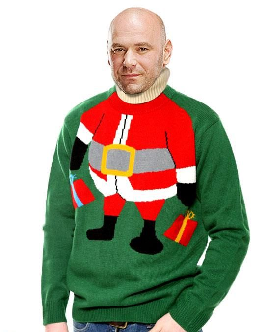 UFC débuts Ugly Christmas Sweaters Needing ideas for a FUN Ugly Christmas Swe