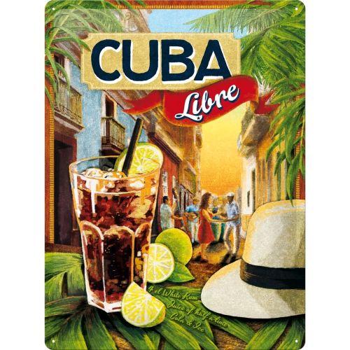 Metalowa Tabliczka Retro 30 X 40 Cm Cocktail Time Cuba Libre Tabliczki Metalowe Retro 30x40 Tablice I Szyld Cuba Libre Cuba Libre Cocktail Vintage Cuba