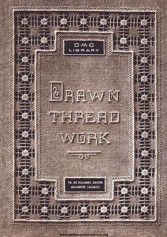 Dmc drawn thread work