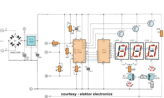 How To Make A Digital Voltmeter Ammeter Module Circuits With
