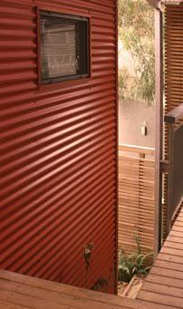 Metal siding corrugated metal and metals on pinterest for Horizontal metal siding