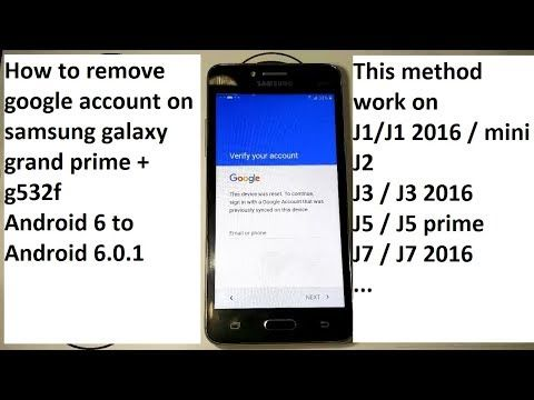 Remove Frp Lock Samsung J1 J2 J3 J5 J7 Grand Prime Mini Last Security 2018 Android 6 Youtube Samsung Samsung Galaxy How To Remove