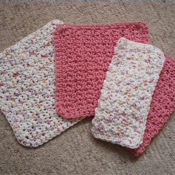 Quick and easy crocheted dishcloth