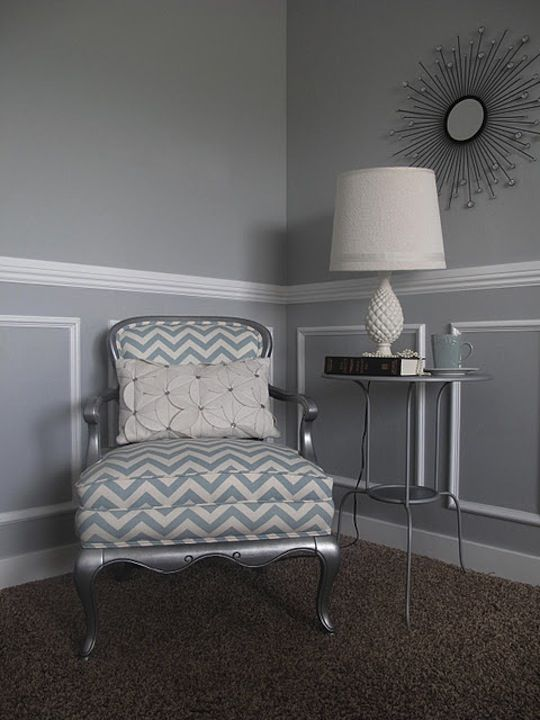 I want this chair! Love the fabric!