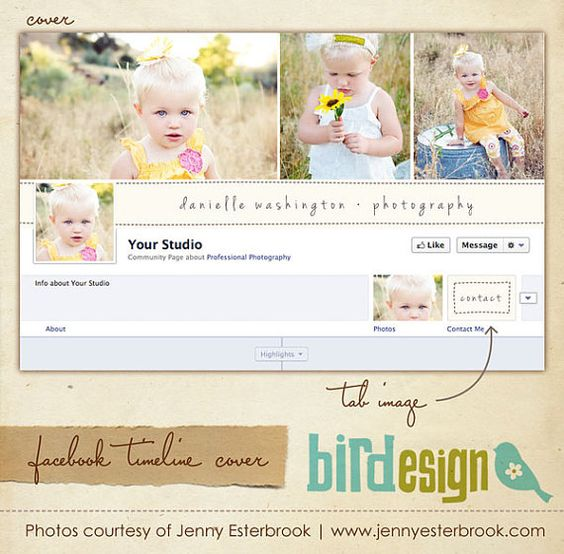 Facebook custom timeline cover  E3458 by birdesign on Etsy, $8.00