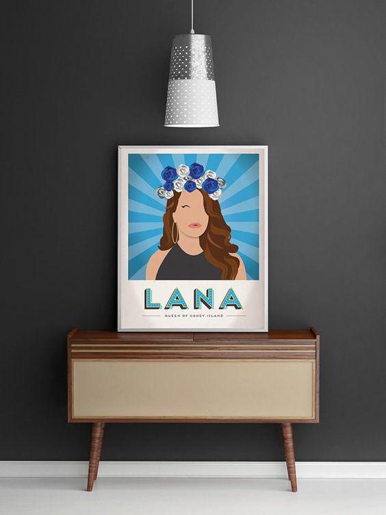 Lana Del Rey Propaganda Poster by GregBaroneDesign on Etsy
