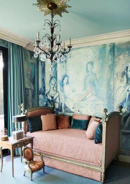 tony duquette interiors | tony duquette design, interior design, seating area, vintage, eclectic