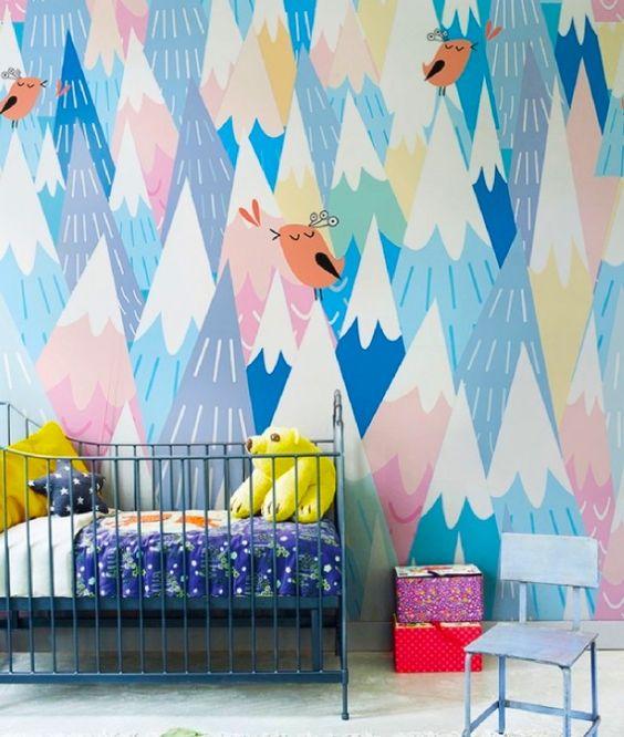 Chambre d'enfant montagne mural