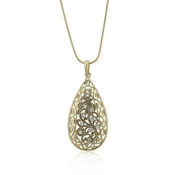 Frannie's  Floral Filigree Necklace