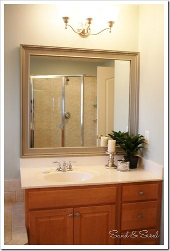 How to Frame a Mirror : Framing a mirror, Frame bathroom mirrors and ...