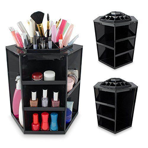 Jerrybox 360 Grad Drehbarer Make Up Organizer Einstellbarer Kosmetikorganizer Multifunktionale Aufbewahrungsbox Make Up Organizer Aufbewahrung Aufbewahrungsbox