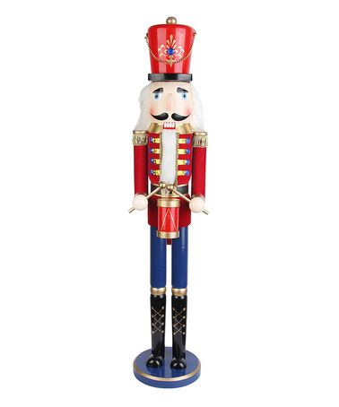 This 36'' Nutcracker Drummer Soldier Statue is perfect! #zulilyfinds