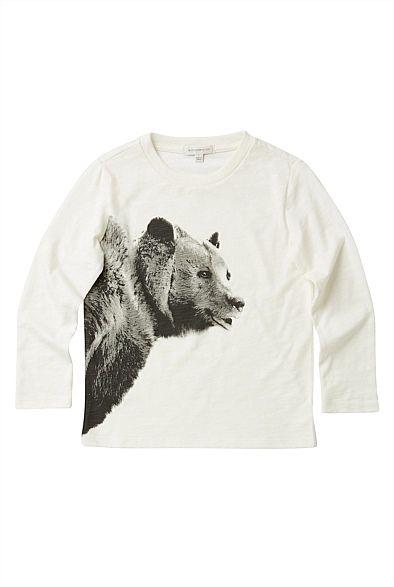 Bear Print Longsleeve T-Shirt