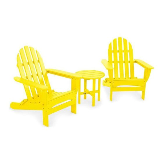 Add some sunshine to your patio with this Adirondack Set! #brights
