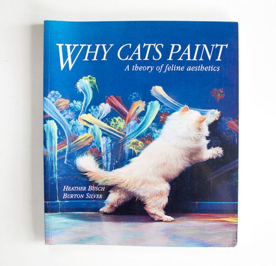 Why Cats Paint book by LeMewVintage on Etsy, $22.00