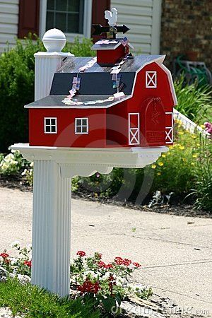 Unique mailboxes Unique and Red barns on Pinterest