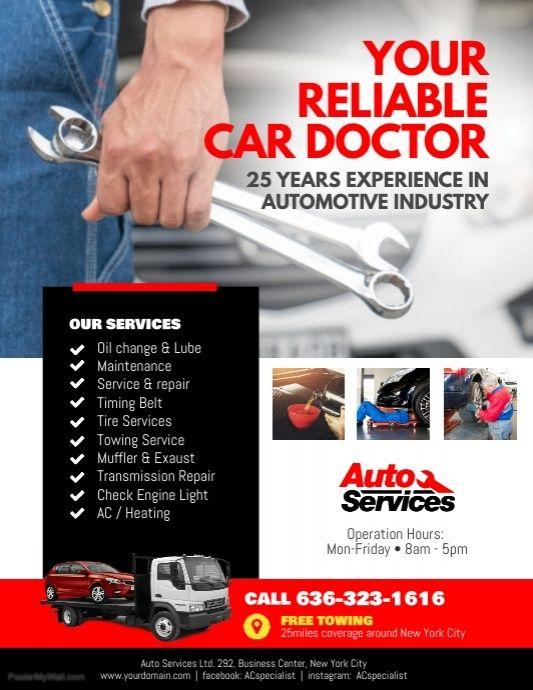 car repair flyer example.