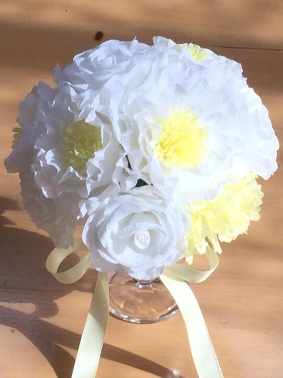 crepe paper flowers  crepe paper bouquet
