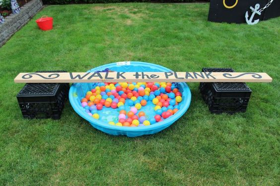 Pirate Birthday Party walk the plank game - 5M Creations Blog