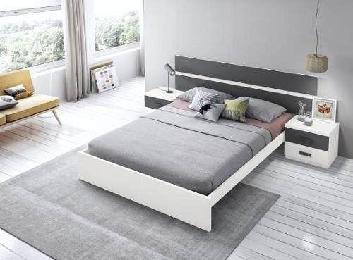 Juego Dormitorio Matrimonial Respaldo Mesas De Luz Laqueado 38 920 00 En Mercado Libre Bed Furniture Design Wood Bed Design Modern Bedroom Set