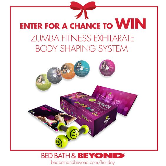 Love Zumba? We're giving away a Zumba Fitness Exhilarate Body Shaping System! Enter here for a chance to win!     NO PURCHASE NECESSARY TO ENTER OR WIN. Ends 12/18/13.