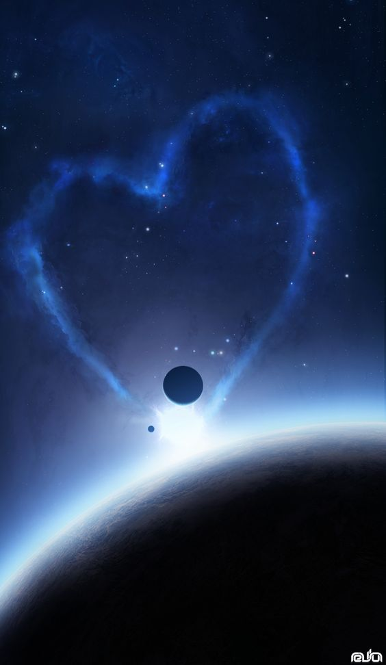 .: Galactic Heart, Hearts In Nature, Heart Shapes, Blue Heart, Universal Heart, Universe Heart