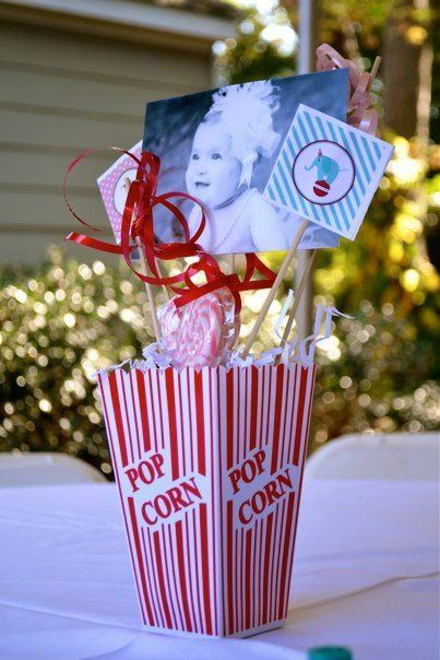 Centerpieces for Carnival Birthday