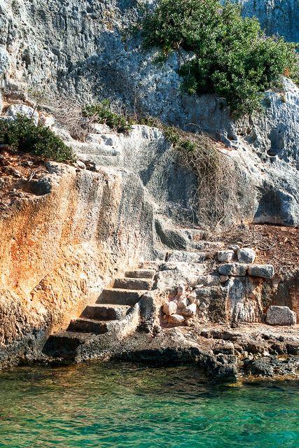La isla de Kekova, Antalya, Turquía