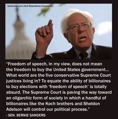 Free speech does not equal money!