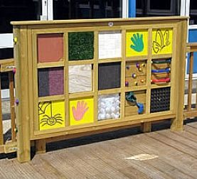 Sensory Play Panels | Sensory tactile pane for your sensory garden: