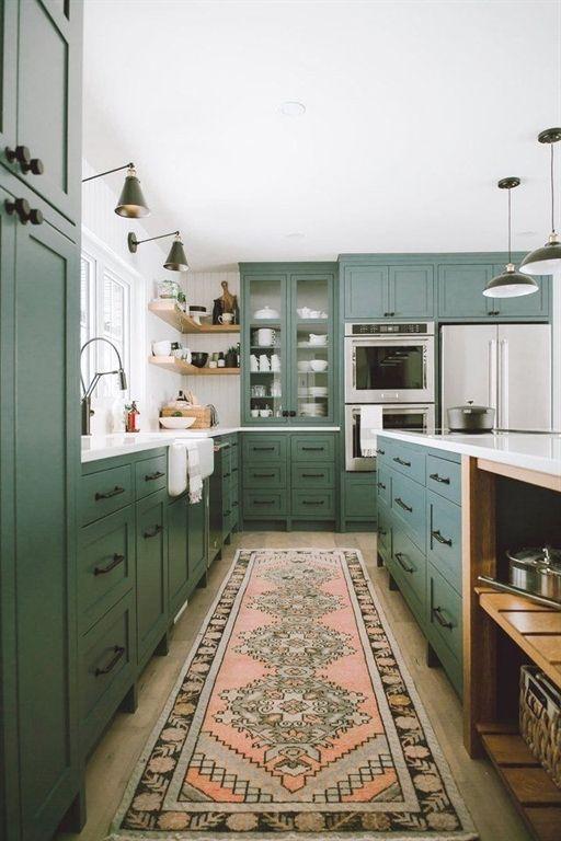 Interior Designer Interior Design Patterns Interior Design Magazine Subscription Uk Pra Green Kitchen Cabinets Kitchen Interior Interior Design Kitchen