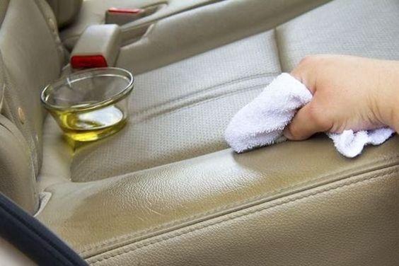 Ne pas entretenir le cuir des sièges de voiture avec de l'huile