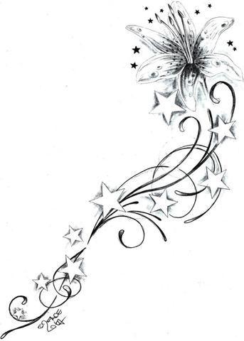 Möchte mir gern Tattoo stechen lassen. (Sterne, Vorlage, tattoo-vorlage)