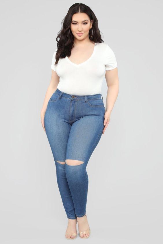 Curvy Canopy Jeans - Medium Wash - Top Fashionova