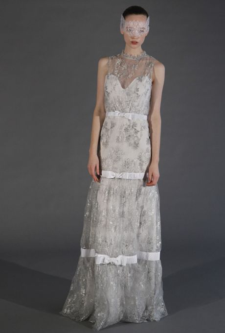 Sweetheart gown with lace floral overlay from Douglas Hannant's spring 2013 collection