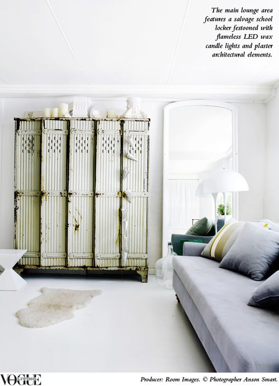 The home of interiors stylist Megan Morton, currently featured in Vogue Living July/Aug 2012. Photographer Anson Smart. white floors