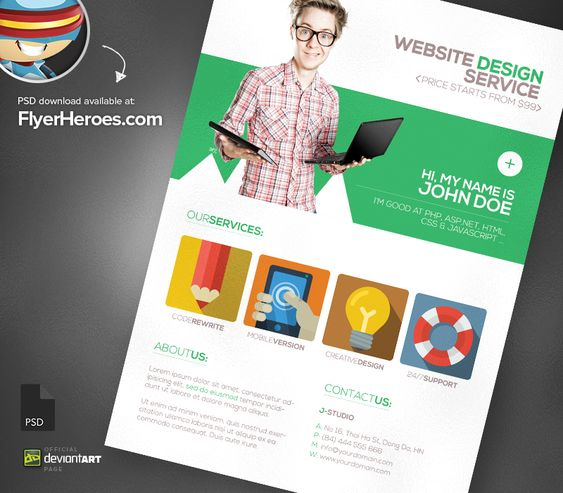 Free Brochure Templates Psd Download Psd Flyer Templates